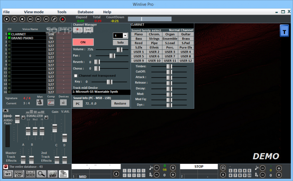 WinLive Pro Synth latest version