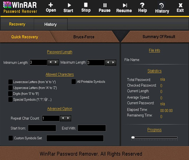 WinRAR Password Remover latest version