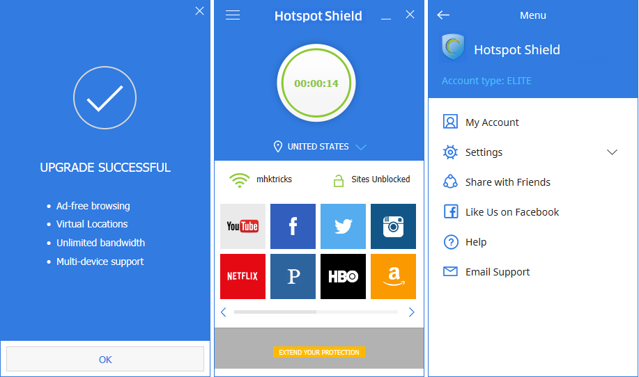 Hotspot Shield Elite latest version