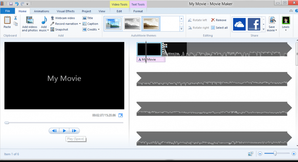 Windows Movie Maker windows