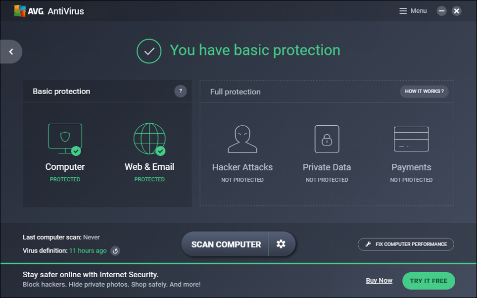 Avg Antivirus windows
