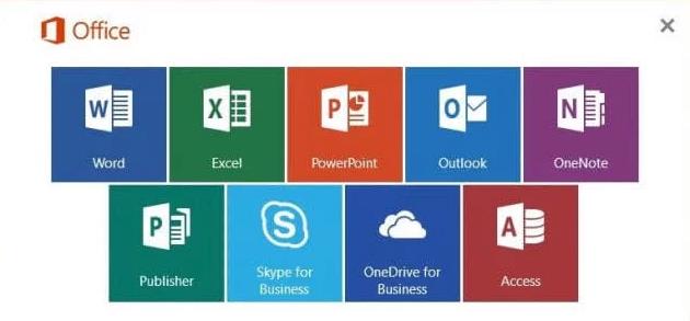 Microsoft Office windows