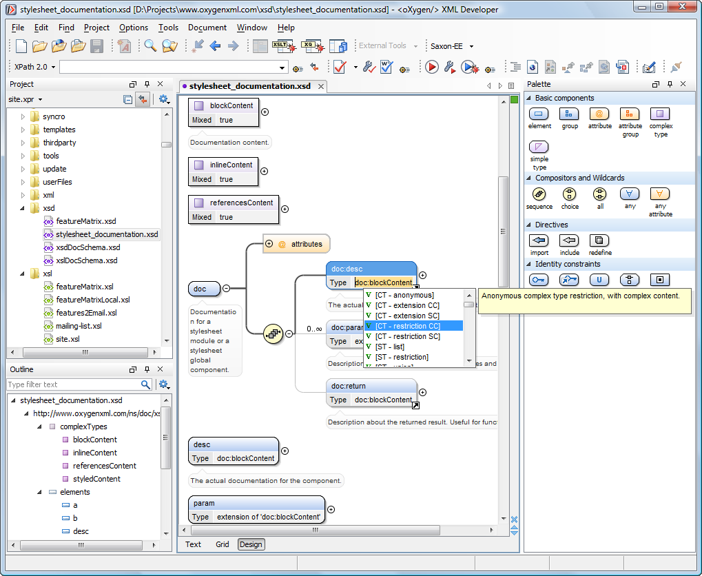 Oxygen XML Editor latest version