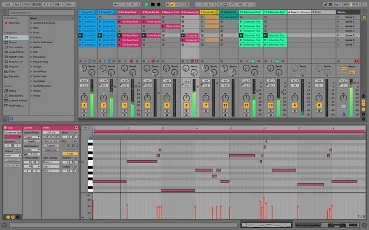 Ableton Live windows