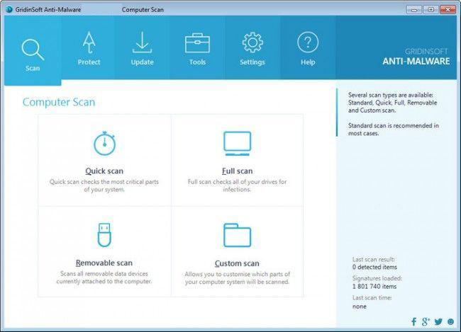 GridinSoft Anti-Malware windows