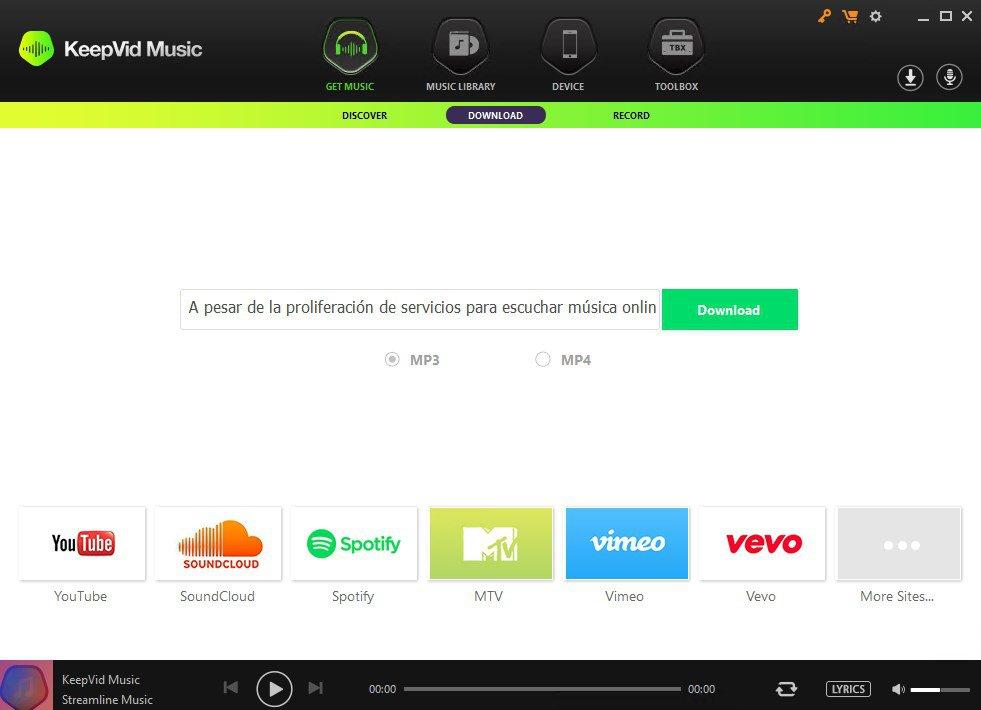 KeepVid Music windows