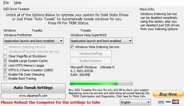 SSD Tweaker Pro windows