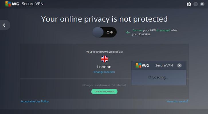 AVG Secure VPN windows