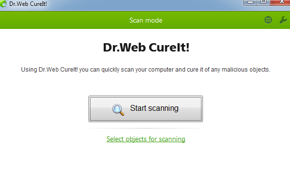 Dr.WEB Cureit windows