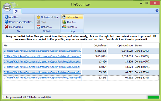 FileOptimizer windows