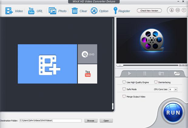 WinX HD Video Converter Deluxe windows