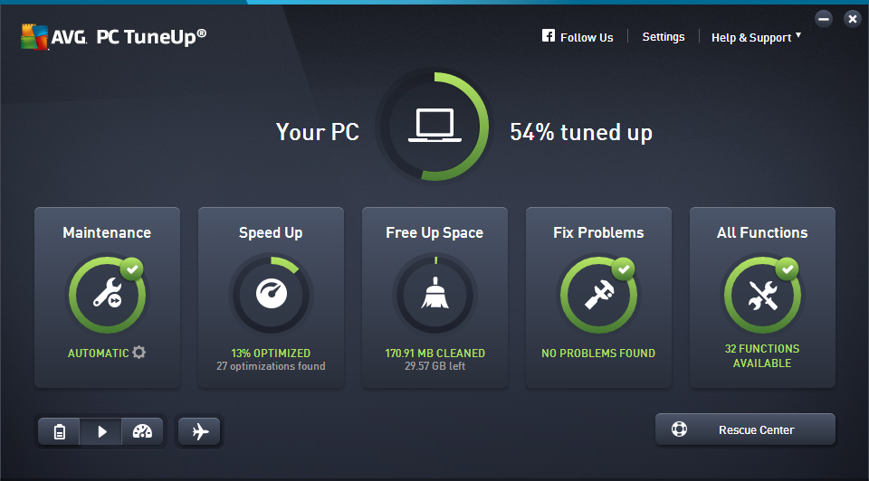 Avg Pc Tuneup windows
