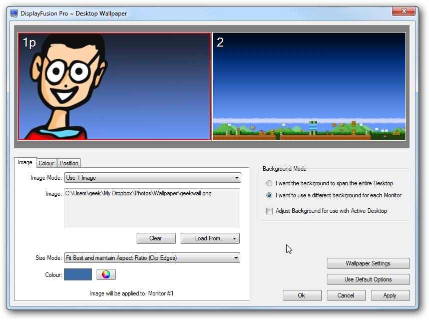 DisplayFusion Pro windows