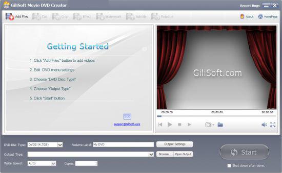 GiliSoft Movie Dvd Creator windows