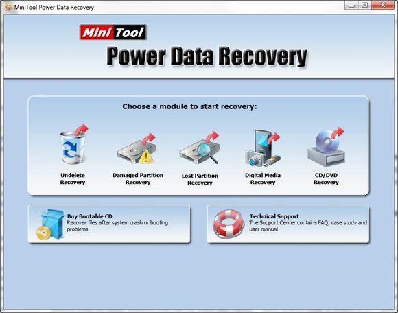 MiniTool Power Data Recovery windows