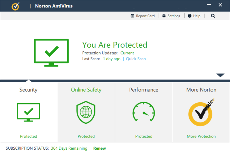 Norton AntiVirus windows