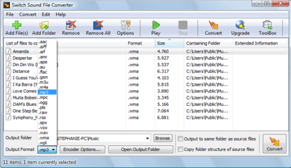 Switch Sound File Converter windows