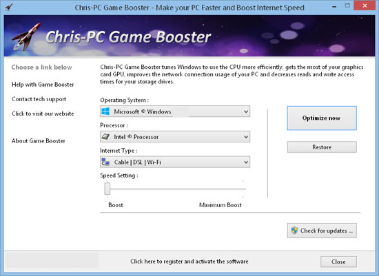 Chris PC RAM Booster latest version