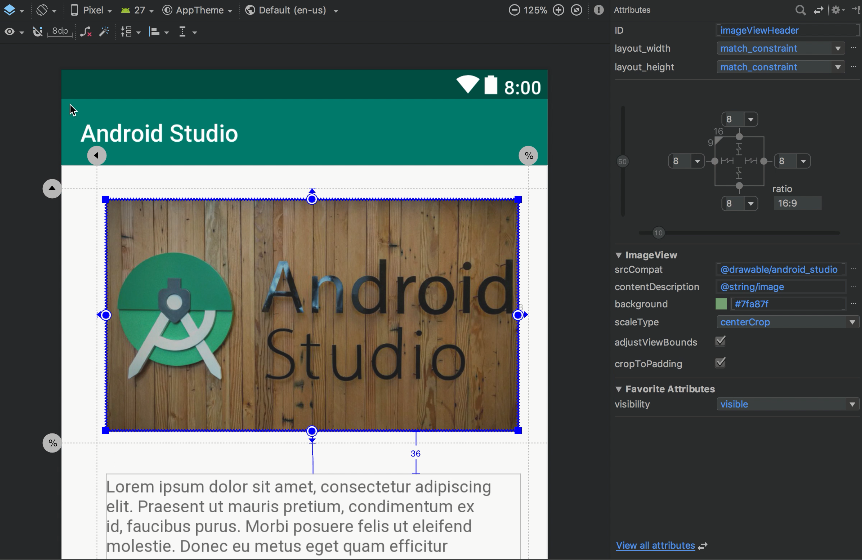 Android Studio windows