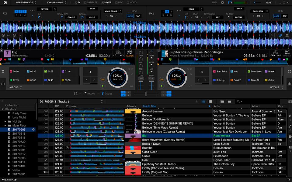 Rekordbox DJ windows