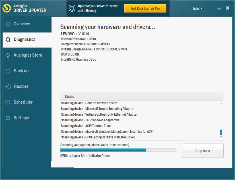 Auslogics Driver Updater windows