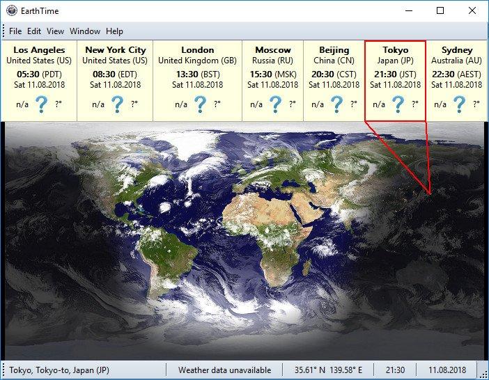 DeskSoft EarthTime latest version
