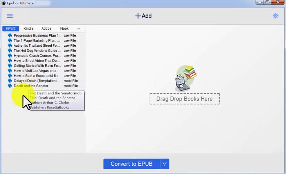 Epubor Ultimate eBook Converter latest version