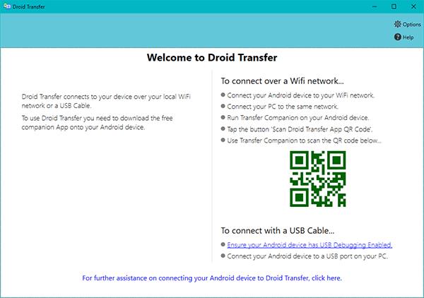 Droid Transfer windows