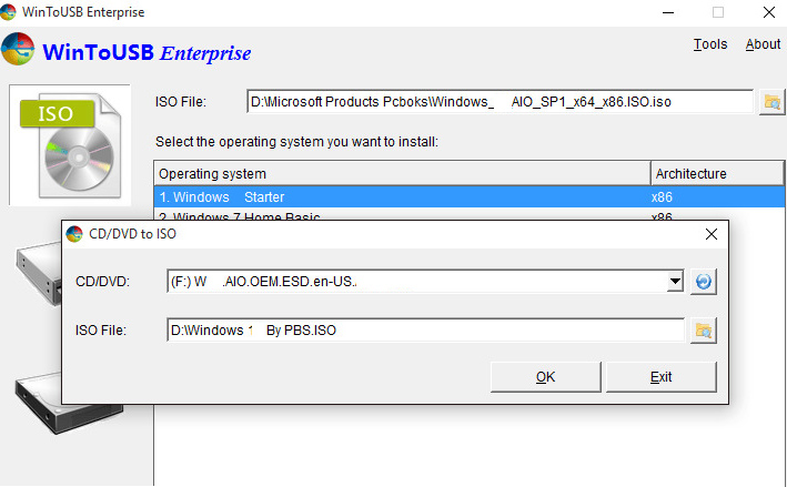 WinToUSB Enterprise windows