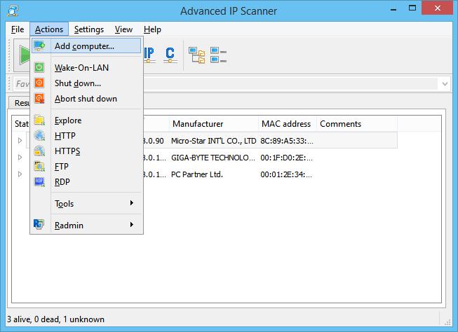 Advance IP Scanner latest version