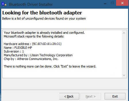 Bluetooth Driver Installer windows