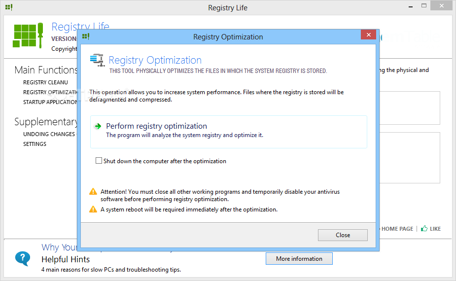 Registry Life windows