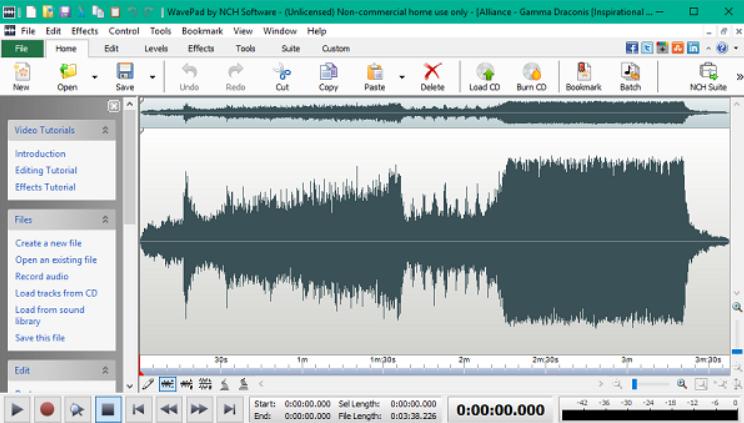 WavePad Sound Editor windows