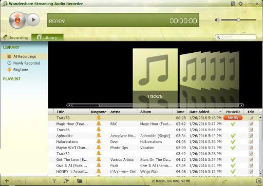 Wondershare Streaming Audio Recorder latest version