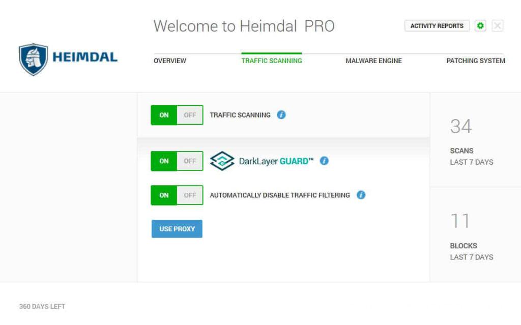 Heimdal PRO windows